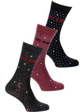 Trojbalení pánské ponožky Pepe Jeans TYE