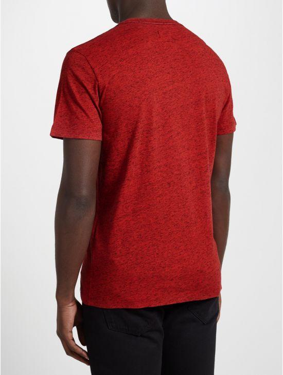 Červené pánské triko s černým melírkem Diesel T-SKAT 1