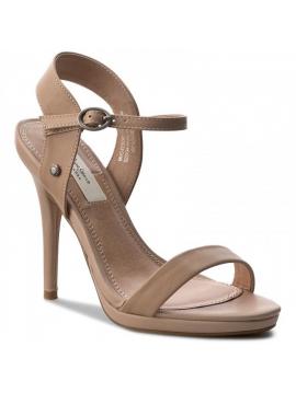 Dámské sandály na podpatku v béžové barve Pepe Jeans LAKE BASIC