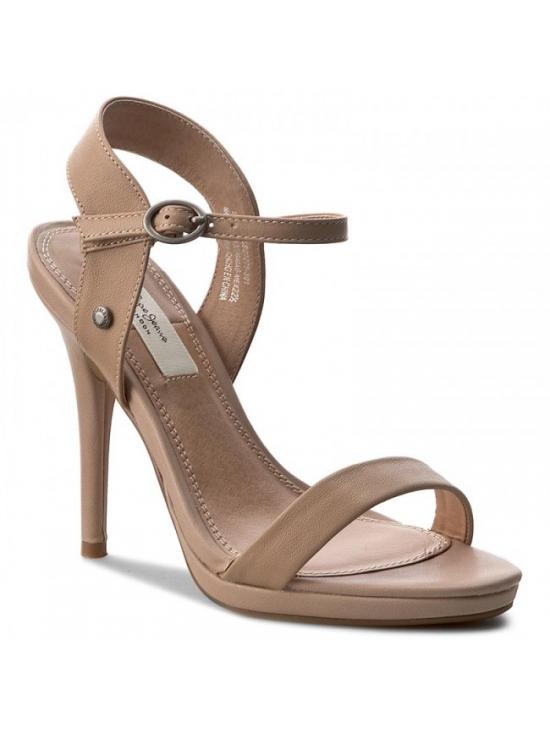 121200623bcae Dámské sandály na podpatku v béžové barve Pepe Jeans LAKE BASIC
