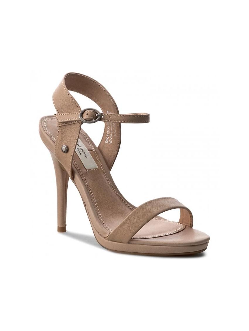 e7bd864940d1 Dámské sandály na podpatku v béžové barve Pepe Jeans LAKE BASIC. Loading  zoom