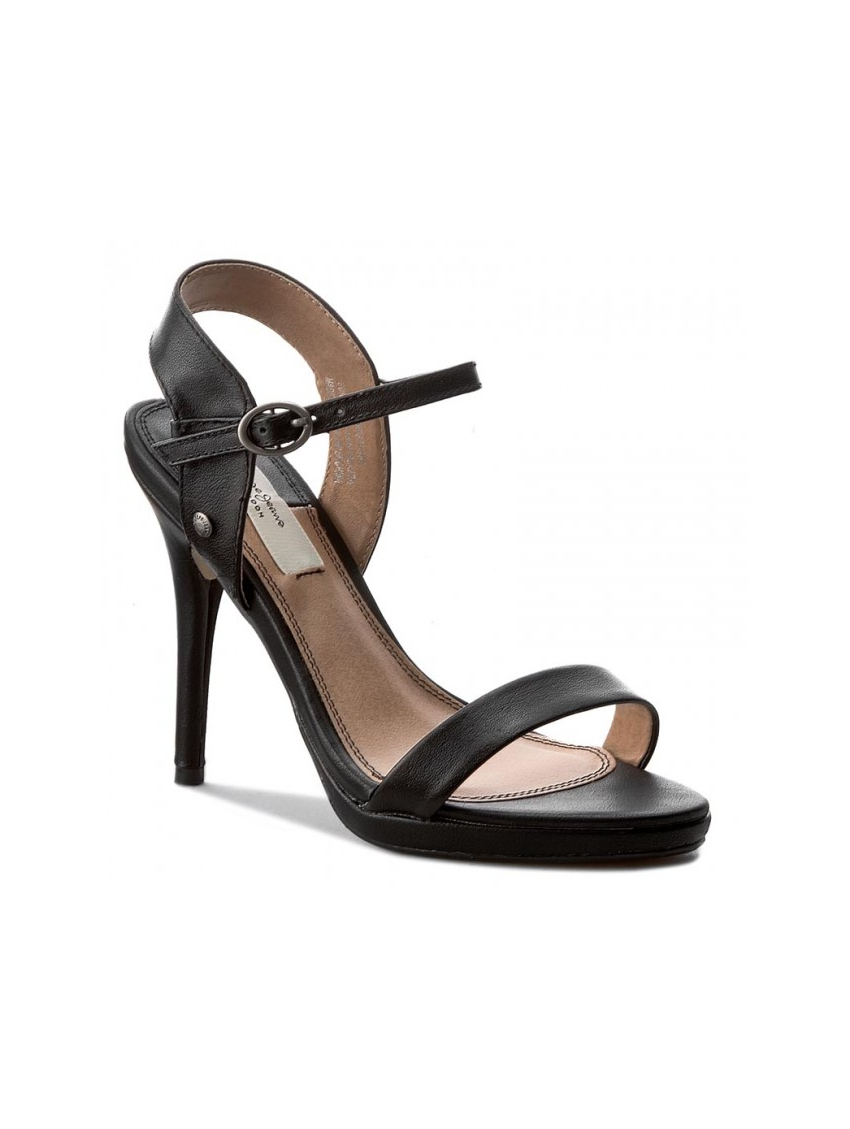 534a6fc6ee6 Dámské sandály na podpatku v černé barve Pepe Jeans LAKE BASIC. Loading zoom