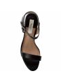 Dámské sandály na podpatku v černé barve Pepe Jeans LAKE BASIC 3