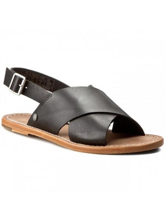 Dámské sandály v černé barvě Pepe Jeans MALIBU CROSSED