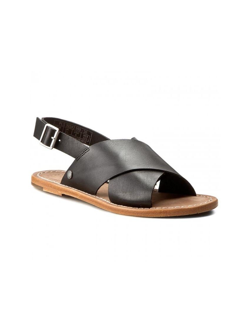 63bfac53cc0 Dámské sandály v černé barvě Pepe Jeans MALIBU CROSSED. Loading zoom