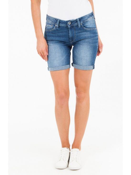 16cd7905758 Středně modré džínové šortky Pepe Jeans POPPY - 919 CONCEPT STORE