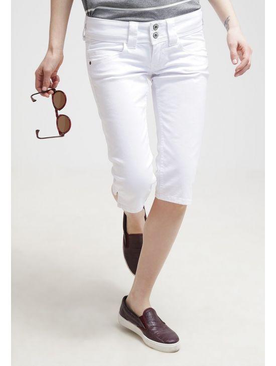 d1d9cac401a Bílé kraťasy pod kolena Pepe Jeans VENUS CROP - 919 CONCEPT STORE