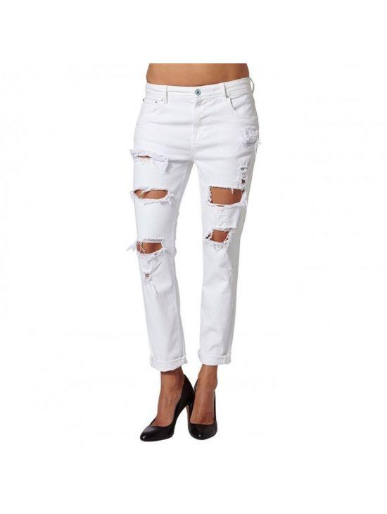 Bílé děravé džíny Pepe Jeans VAGABOND