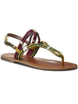 Dámské kožené sandále Pepe Jeans JANE WOVEN
