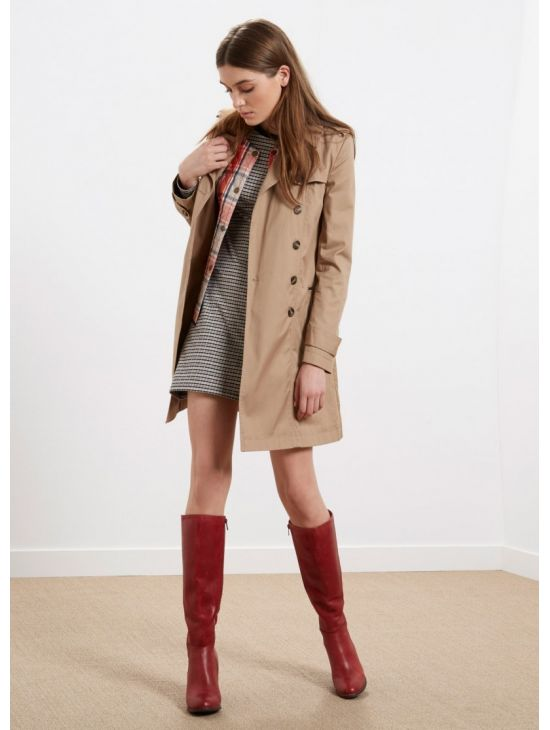 Béžový trench coat kabát Pepe Jeans NUMA