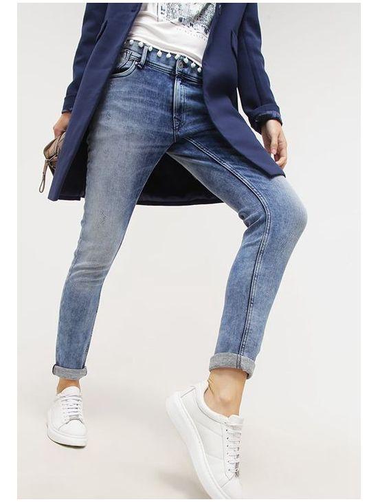 Dámské šedomodré Gymdigo džíny Pepe Jeans JOEY