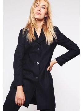 Dámský černý vlněný kabát Pepe Jeans ROSIE