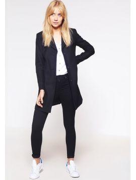 Dámský černý vlněný kabát Pepe Jeans ROSIEb