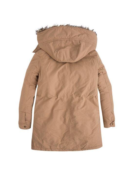 Zimní béžová parka bunda Pepe Jeans POLLYb