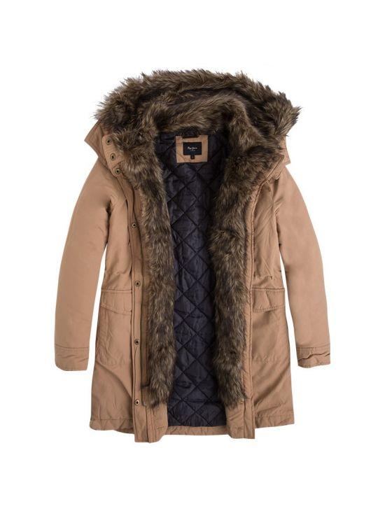 Zimní béžová parka bunda Pepe Jeans POLLY