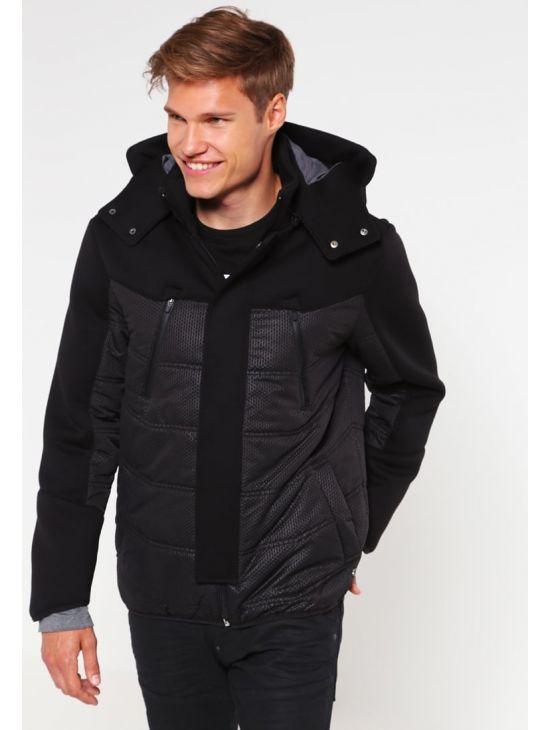 Zimní pánská černá bunda Pepe Jeans FULTONa