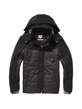 Zimní pánská černá bunda Pepe Jeans FULTON