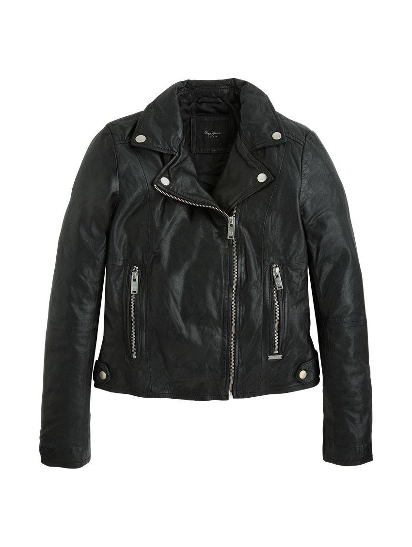 Kožená bunda křivák Pepe Jeans ADRIANA černá - 919 CONCEPT STORE 2320b8a1794