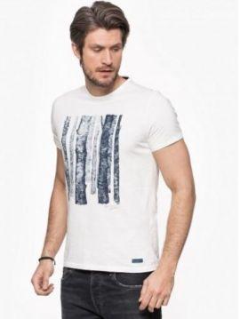 Bílé slim triko Pepe Jeans BLAKE