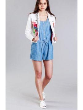 Džínová bunda s výšivkou Pepe Jeans CRISIE