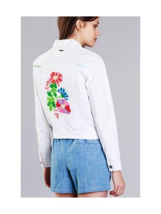Džínová bunda s výšivkou Pepe Jeans CRISIEb