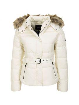 Bílá zimní péřová bunda Pepe Jeans CLARISb c1ff0221e83