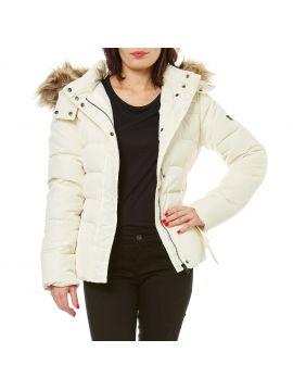 Bílá zimní péřová bunda Pepe Jeans CLARIS