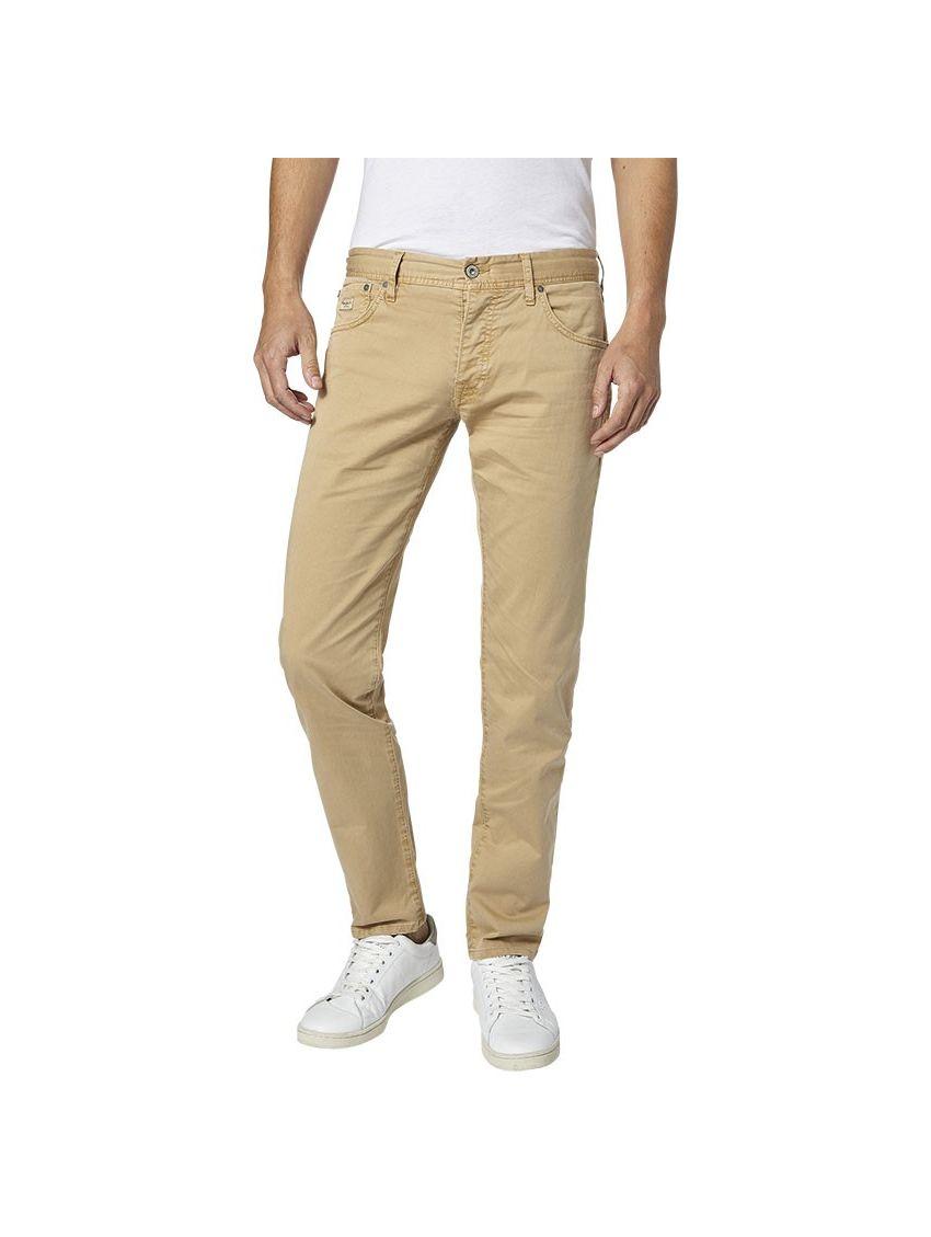 c6a4af18b4 Pánské béžové plátěné kalhoty Pepe Jeans CANE - 919 CONCEPT STORE