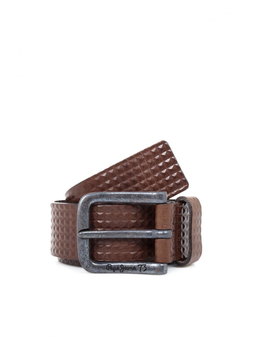 Domů   Pánské oblečení Doplňky Pásky Hnědý kožený opasek Pepe Jeans IKE.  Snížená cena! Obrázek (1). Loading zoom cca57f6ec5
