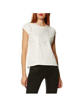 Bílé tričko se vzorem Pepe Jeans MAGDA T-SHIRT