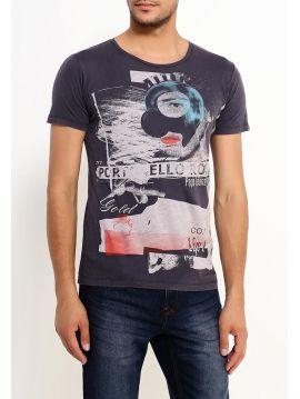 Šedé slim fit tričko s potiskem Pepe Jeans HAMPSTEAD T-SHIRT 1