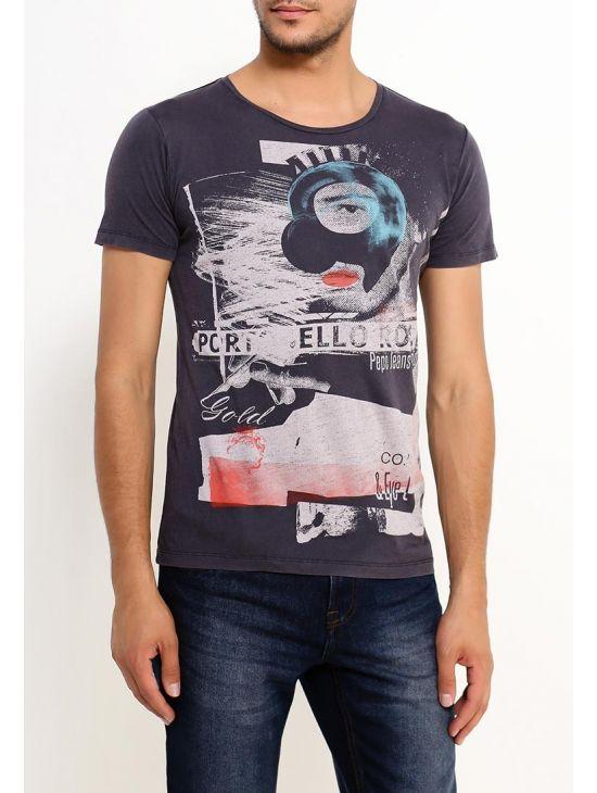 Šedé slim fit tričko s potiskem Pepe Jeans HAMPSTEAD T-SHIRT 1. Loading zoom 8d9f133e16
