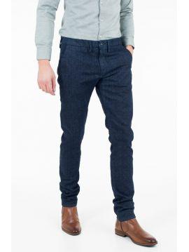 Tmavě modré chinos kalhoty Pepe Jeans JAMES TWEED