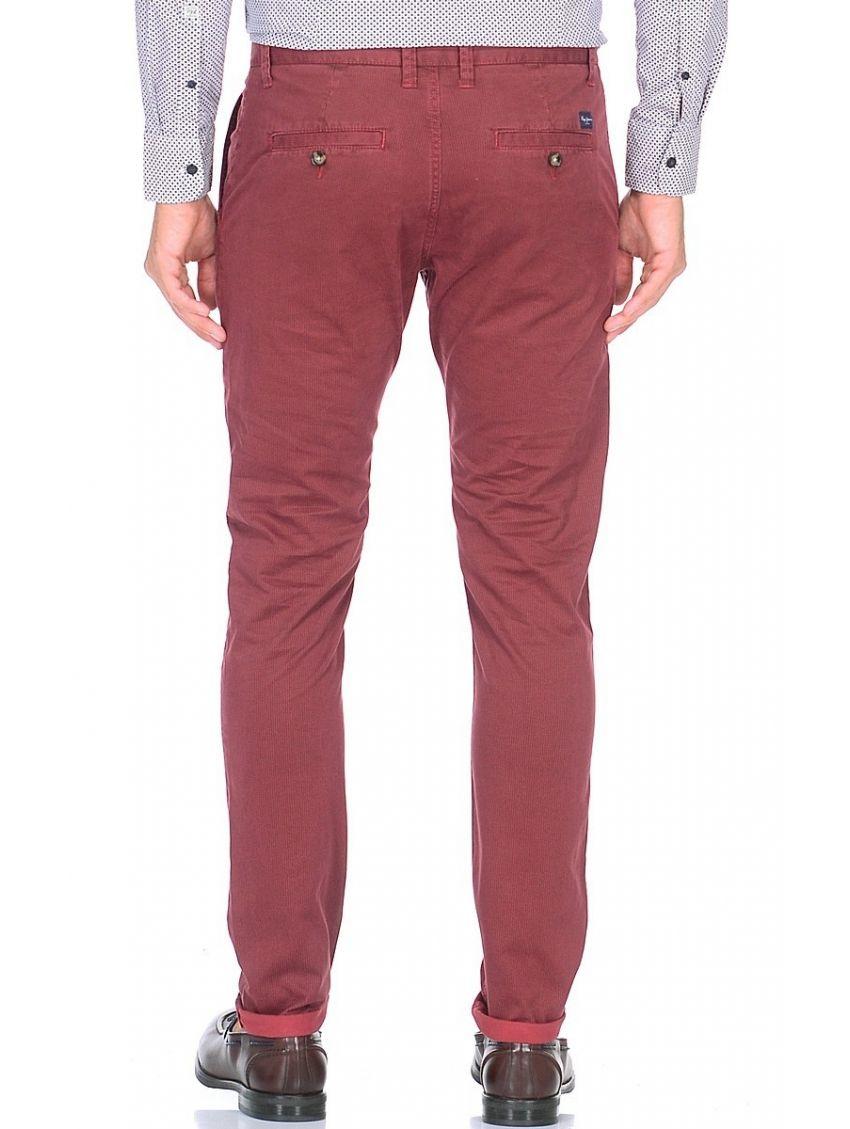 14708431ca6c Červené chinos kalhoty Pepe Jeans JAMESa. Loading zoom. Přiblížit.  Předchozí. Zelené slim fit ...