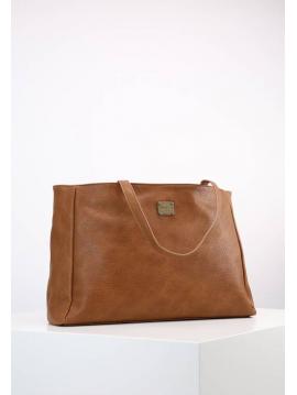 Hnědá kabelka s provlékaným detailem Pepe Jeans MAE BAG