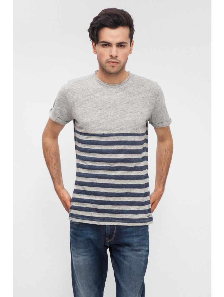 Šedé tričko s pruhovaným vzorem Pepe Jeans MINDI T-SHIRT 1. Loading zoom 3dea510b8e
