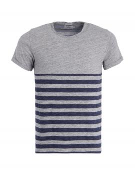 Šedé tričko s pruhovaným vzorem Pepe Jeans MINDI T-SHIRT