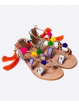 Sandále s bambulkami Pepe Jeans MALIBU POMPOMa