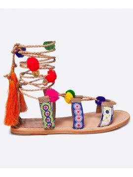Sandále s bambulkami Pepe Jeans MALIBU POMPOM