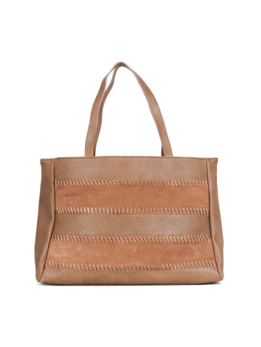 30505ce3bd Hnědá prostorná kožená taška Pepe Jeans MAE - 919 CONCEPT STORE