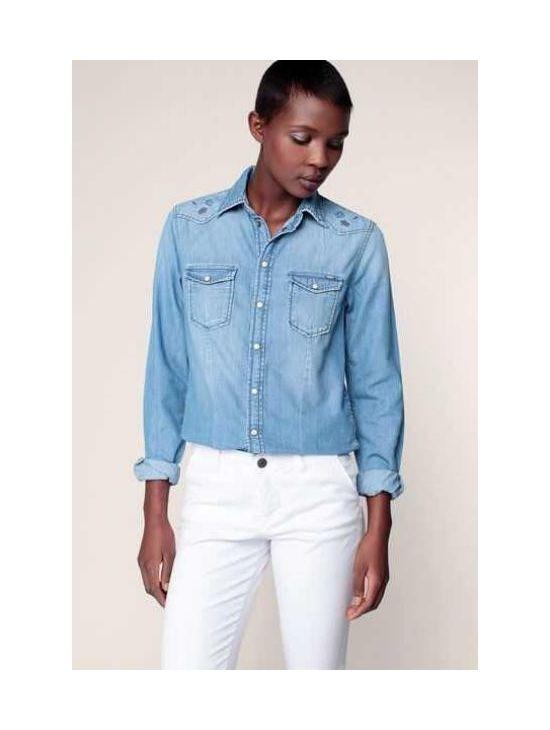 Modrá džínová košile Pepe Jeans ROSIE DLX