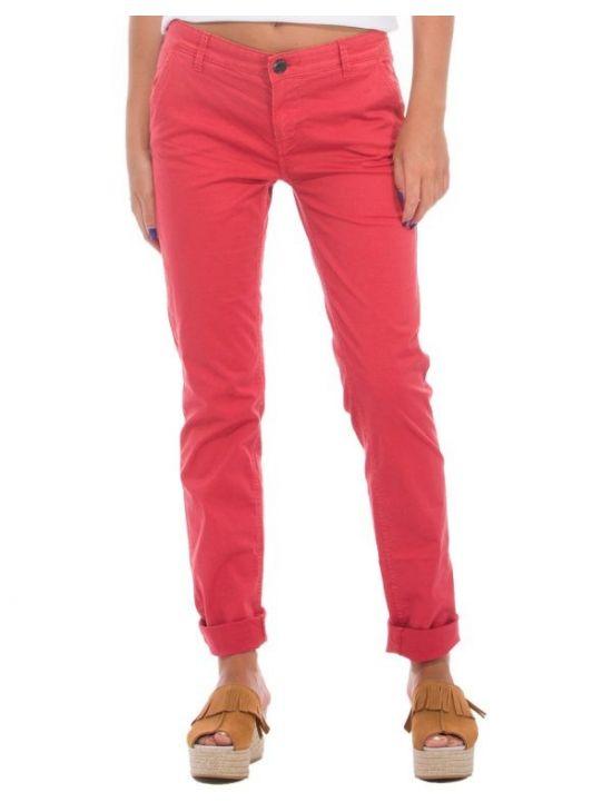Chinos červené kalhoty Pepe Jeans MAUREEN
