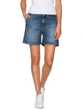 Džínové kraťasy s vyšším pasem Pepe Jeans NAOMIE