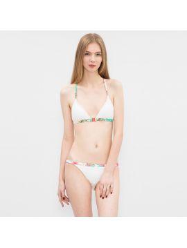 Bílé plavky s proplétanými zády Pepe Jeans LAYLA