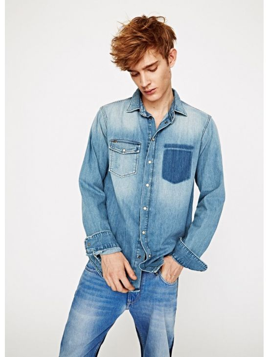 Pánská džínová košile Pepe Jeans PERCY - 919 CONCEPT STORE f3bb628085
