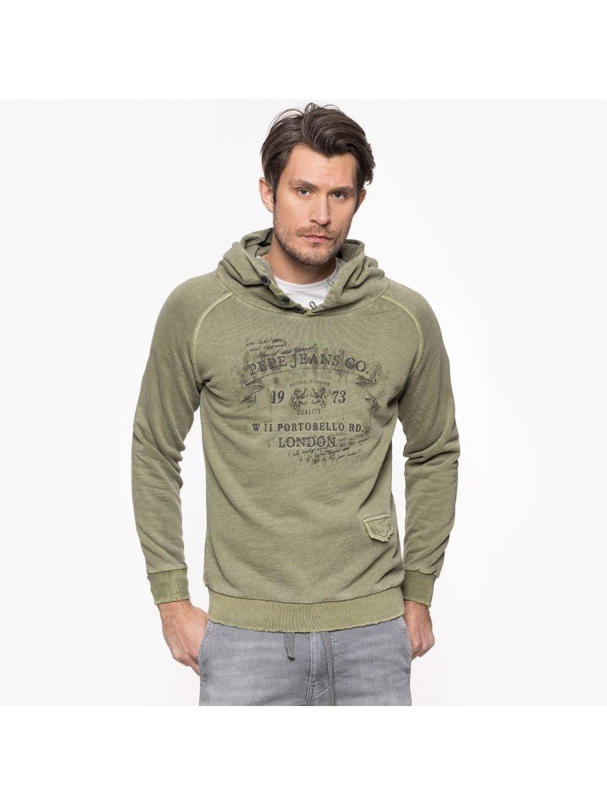 Khaki mikina s kapucí Pepe Jeans RIMU - 919 CONCEPT STORE 987c835f93