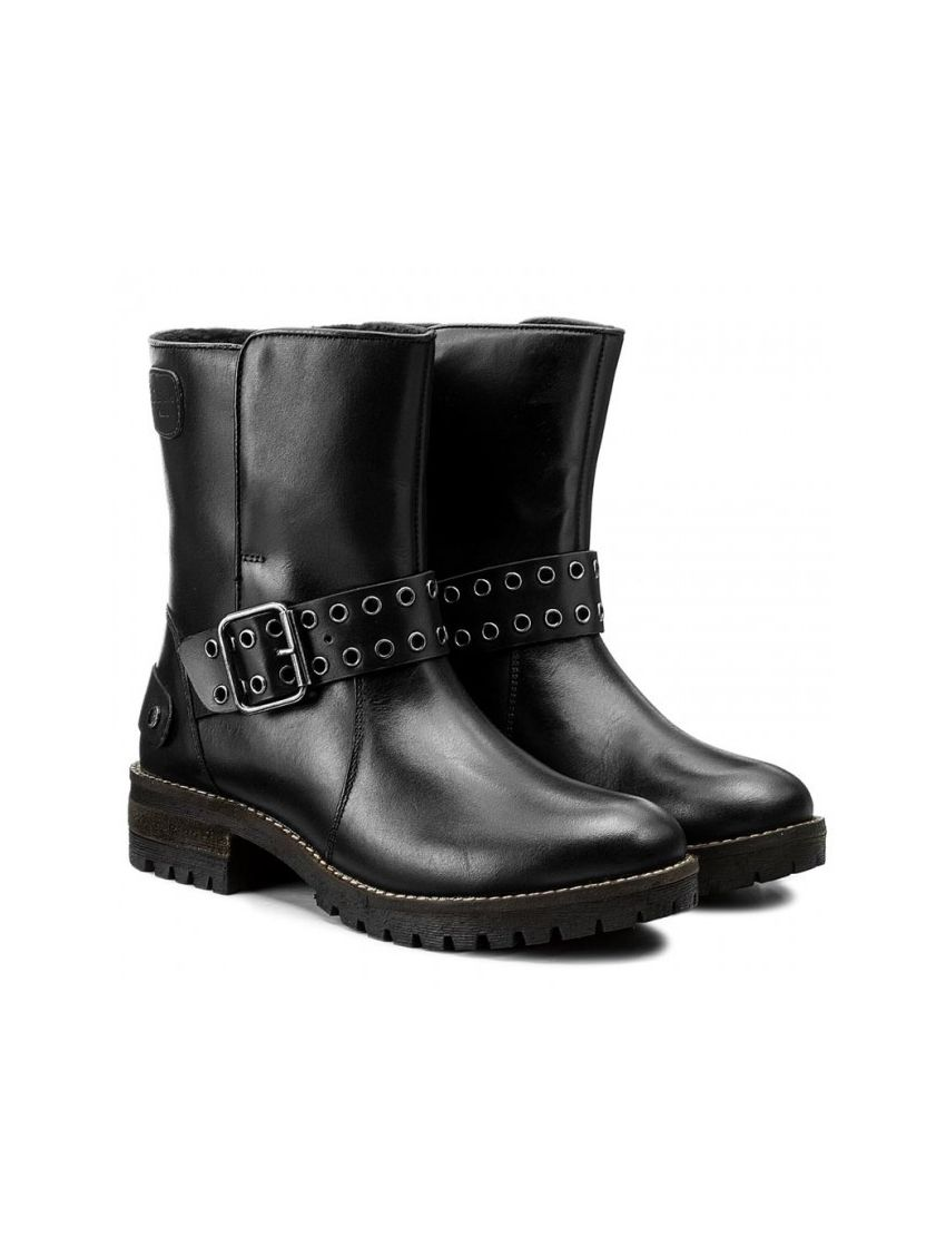 Kožené boty s přezkou Pepe Jeans HELLEN OPEN - 919 CONCEPT STORE ea1080f47d