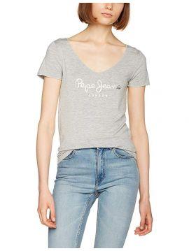 Šedé tričko do véčka Pepe Jeans MELISSA