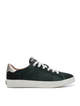 Tmavě zelené sametové tenisky Pepe Jeans PORTOBELLO EDT COLLLVI 2