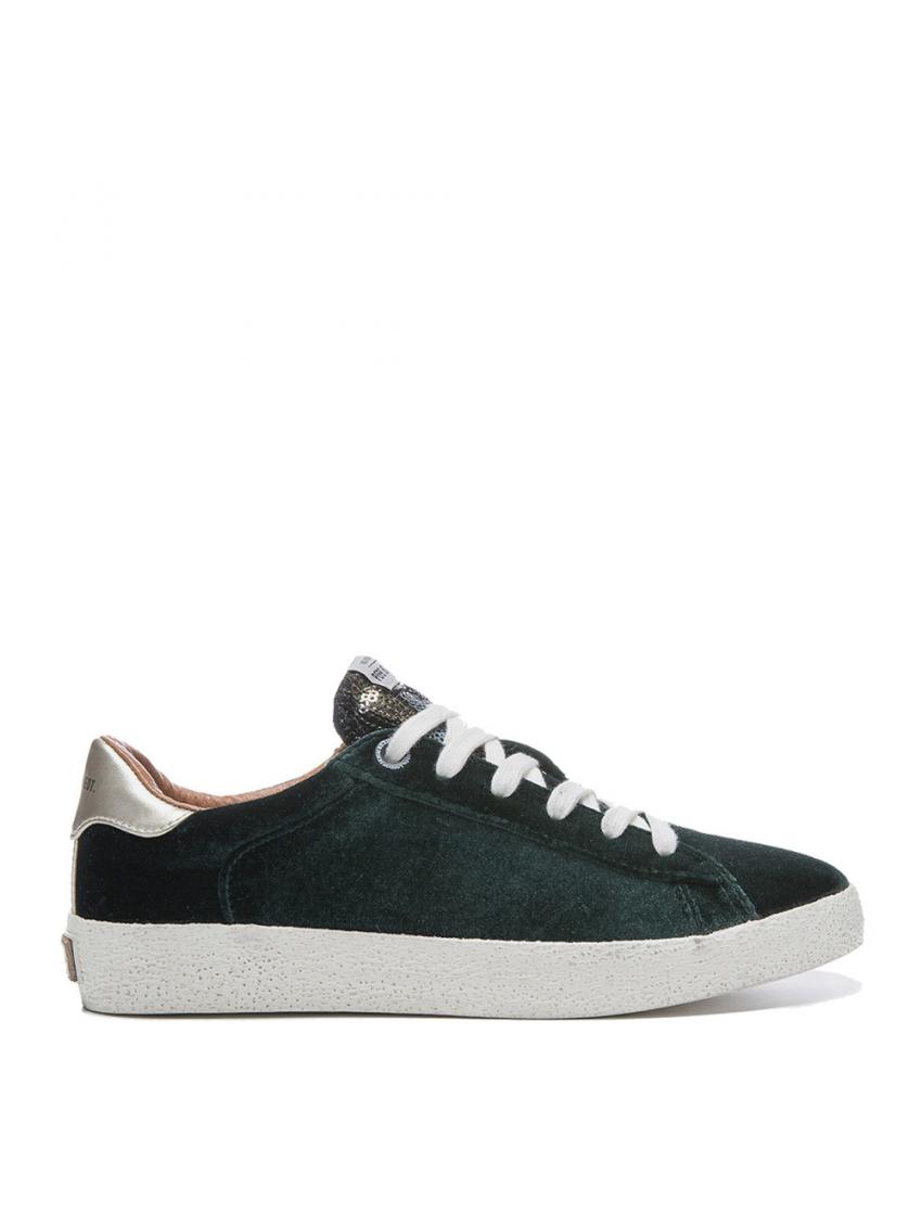 773a65044f9 Tmavě zelené sametové tenisky Pepe Jeans PORTOBELLO EDT COLLLVI 2. Loading  zoom